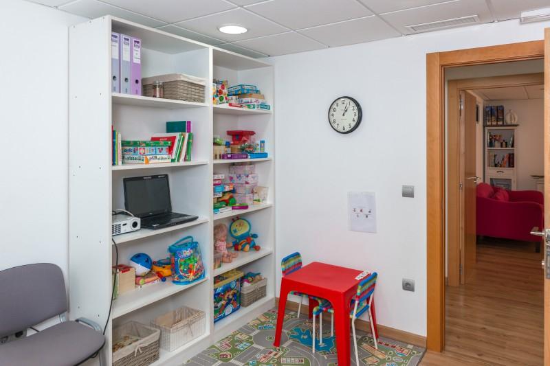 Zona de niños de la clínica de psicología infantil de Alicante
